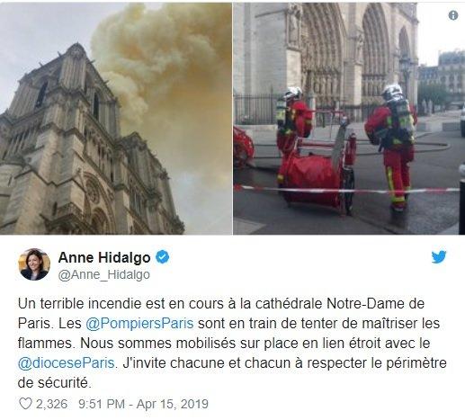 آتشسوزی شدید در کلیسای نوتردام پاریس