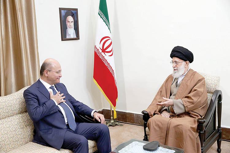 رهبر معظم انقلاب اسلامی در دیدار رئیسجمهور عراق: مقابل دشمنان «عراق قدرتمند و آرام» با قدرت بایستید
