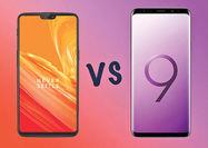 مقایسه OnePlus 6 و گلکسی S9