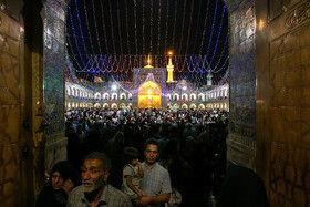 حال و هوای حرم رضوی در شب عید غدیرخم