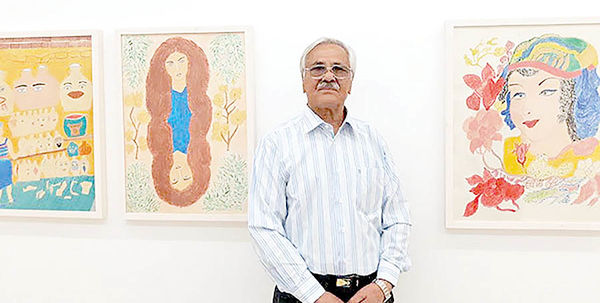 نمایشگاه نقاشیهای کشتیگیر پیشکسوت در گالری دلگشا
