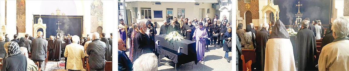تشییع پیکر مادر مجسمهسازی ایران در کلیسا
