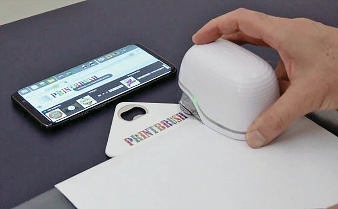 چاپگر دستی با قابلیت چاپ روی انواع سطوح