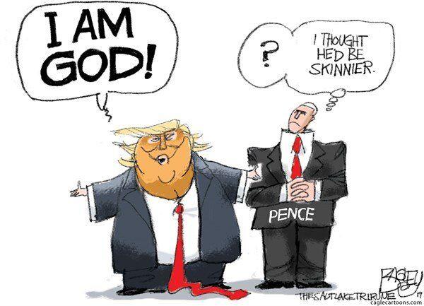 آقای ترامپ، برای خدا بودن کمی چاق نیستی؟!