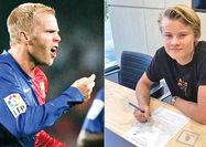 قرارداد رئال با پسر مهاجم پیشین بارسلونا