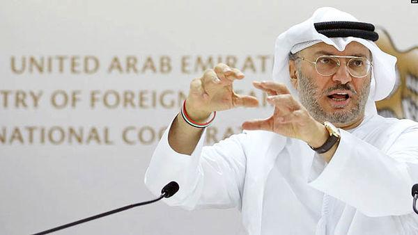 پرچم سفید امارات در برابر ایران