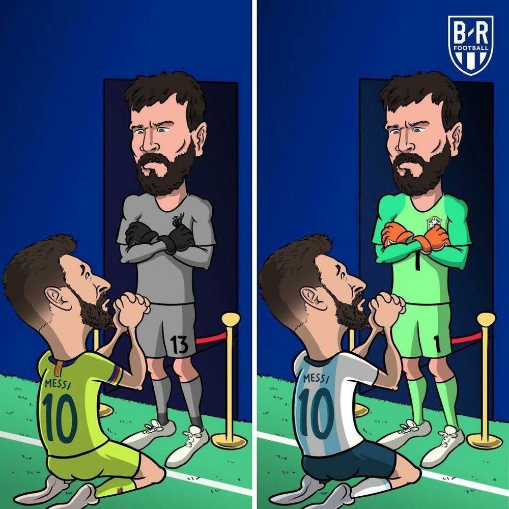 دروازبان برزیلی مسی را به زانو درآورد!