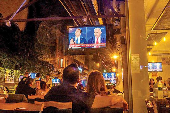 تب انتخابات در استانبول
