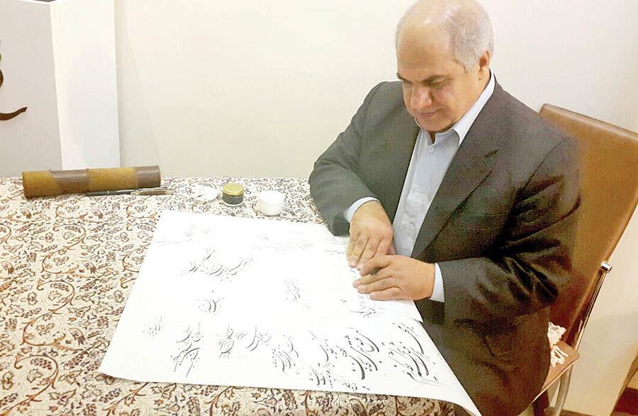 برپایی نمایشگاه 2 دهه آثار خوشنویسی محمد حیدری