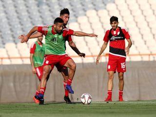تمرین تیم ملی فوتبال ایران پیش از بازی با سوریه