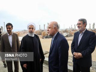 افتتاح رسمی 4 فاز پارس جنوبی با حضور روحانی