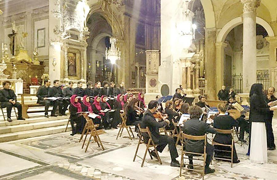 اجرای «کجایید ای شهیدان» کامکار در رم
