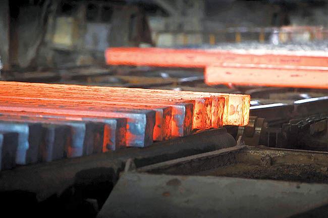 تداوم روند کاهش قیمت شمش فولاد