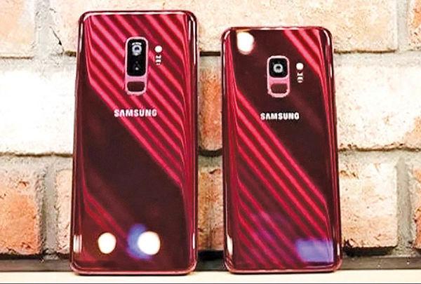 گلکسی اس 9 و اس 9 پلاس در رنگ قرمز