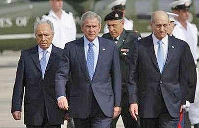 جورج بوش وارد سرزمینهای اشغالی شد