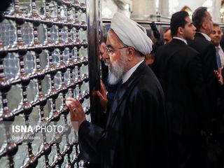 حضور رییس جمهور در مسجد کوفه