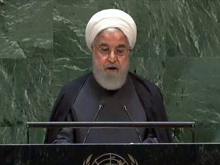 تصاویری از رییس جمهور در مجمع عمومی سازمان ملل