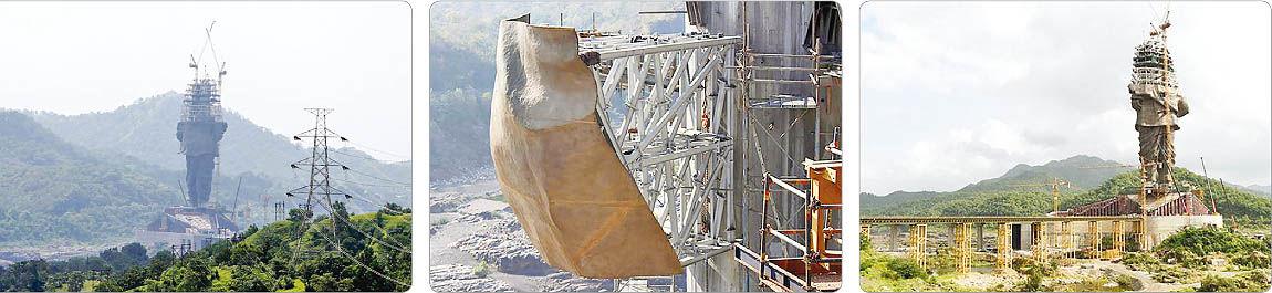 روند ساخت بلندترین مجسمه جهان در هند