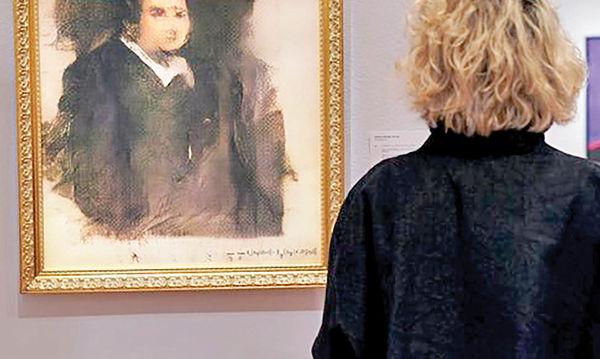 نقاشی یک روبات 400هزار دلار فروش رفت