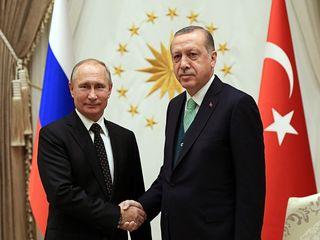 دیدار پوتین و اردوغان در ترکیه