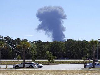 سقوط هواپیمای نظامی آمریکا