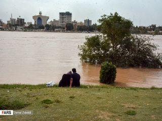 طغیان رودخانه کارون در اهواز