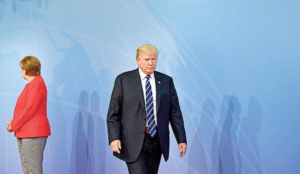 قهر صدراعظم آلمان و رئیسجمهور آمریکا