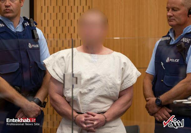 عکس/ عامل کشتار نیوزیلند در دادگاه