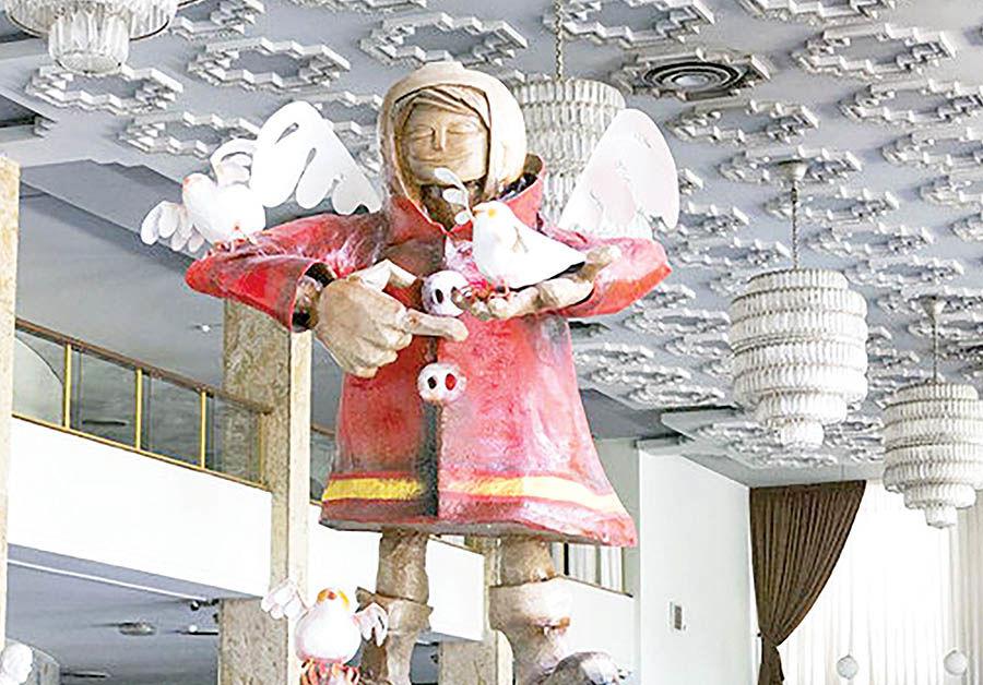 سفر تندیس فرشته نگهبان به تالار وحدت