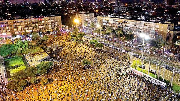 تظاهرات علیهکابینه ائتلافی در تلآویو