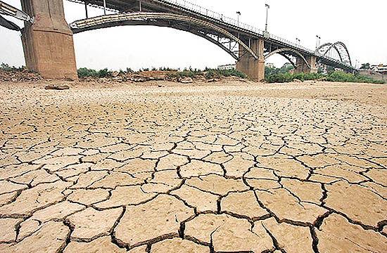 مساحت درگیر خشکسالی در خوزستان