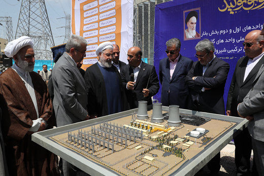افتتاح فاز دوم نیروگاه سیکل ترکیبی شیروان توسط رئیسجمهور ر