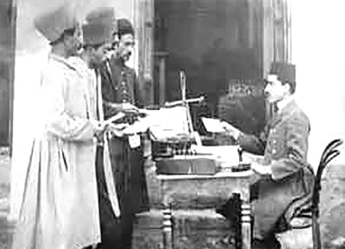 ارسال اولین تلگراف در ایران