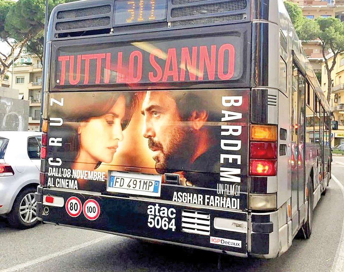 «همه میدانند» فرهادی دومین فیلم پرفروش ایتالیا