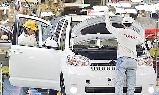 افزایش تولید تویوتا در چین