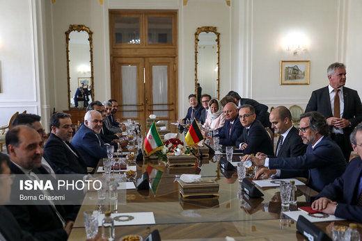 دیدار وزیر امور خارجه آلمان با ظریف