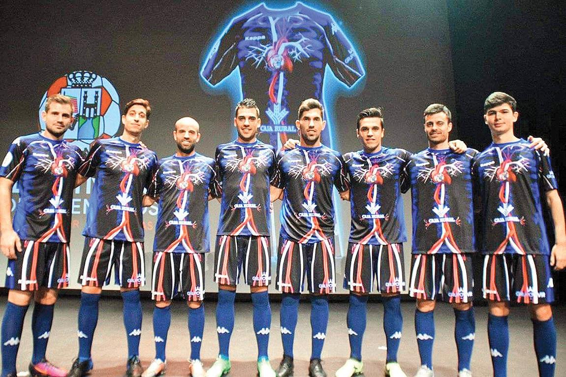 پیراهن عجیب یک تیم فوتبال در اسپانیا